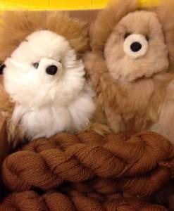 Alpaca-fleece teddy bear