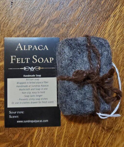 Felted soap – dark